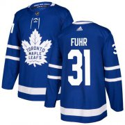 Wholesale Cheap Adidas Maple Leafs #31 Grant Fuhr Blue Home Authentic Stitched NHL Jersey