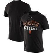 Wholesale Cheap San Francisco Giants Nike Practice Performance T-Shirt Black