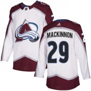 Wholesale Cheap Adidas Avalanche #29 Nathan MacKinnon White Road Authentic Stitched Youth NHL Jersey