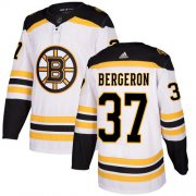 Wholesale Cheap Adidas Bruins #37 Patrice Bergeron White Road Authentic Youth Stitched NHL Jersey