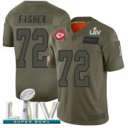 Wholesale Cheap Nike Chiefs #72 Eric Fisher Camo Super Bowl LIV 2020 Men's Stitched NFL Limited 2019 Salute To Service Jersey