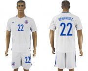 Wholesale Cheap Chile #22 Henriquez Away Soccer Country Jersey