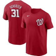Wholesale Cheap Washington Nationals #31 Max Scherzer Nike Name & Number T-Shirt Red