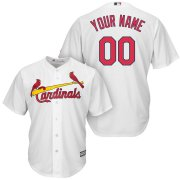 Wholesale Cheap St. Louis Cardinals Majestic Cool Base Custom Jersey White