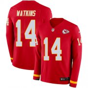 Wholesale Cheap Nike Chiefs #14 Sammy Watkins Red Team Color Youth Stitched NFL Limited Therma Long Sleeve Jersey