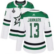 Cheap Adidas Stars #13 Mattias Janmark White Road Authentic Women's 2020 Stanley Cup Final Stitched NHL Jersey