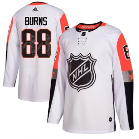 Wholesale Cheap Adidas Sharks #88 Brent Burns White 2018 All-Star Pacific Division Authentic Stitched Youth NHL Jersey