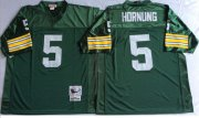 Wholesale Cheap Mitchell And Ness 1966 Packers #5 Paul Hornung Green Throwback Stitched NFL Jersey