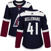 Wholesale Cheap Adidas Avalanche #41 Pierre-Edouard Bellemare Navy Alternate Authentic Women's Stitched NHL Jersey