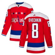 Wholesale Cheap Adidas Capitals #8 Alex Ovechkin Red Alternate Authentic Stitched Youth NHL Jersey