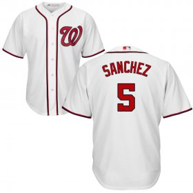 Wholesale Cheap Washington Nationals #5 Adrian Sanchez Cool Base White Stitched MLB Jersey