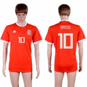 Wholesale Cheap Wales #10 Speed Red Home Soccer Club Jersey