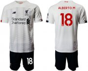 Wholesale Cheap Liverpool #18 Alberto.M Away Soccer Club Jersey