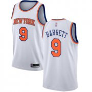 Wholesale Cheap Knicks #9 R.J. Barrett White Basketball Swingman Association Edition Jersey