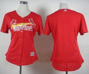Wholesale Cheap Cardinals Blank Red Fashion Women's Stitched MLB Jersey