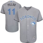 Wholesale Cheap Blue Jays #11 Kevin Pillar Grey Flexbase Authentic Collection Father's Day Stitched MLB Jersey