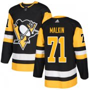 Wholesale Cheap Adidas Penguins #71 Evgeni Malkin Black Home Authentic Stitched NHL Jersey