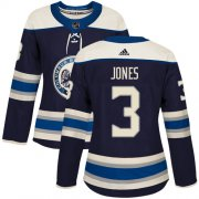 Wholesale Cheap Adidas Blue Jackets #3 Seth Jones Navy Alternate Authentic Women's Stitched NHL Jersey