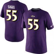 Wholesale Cheap Nike Baltimore Ravens #55 Terrell Suggs Pride Name & Number NFL T-Shirt Purple