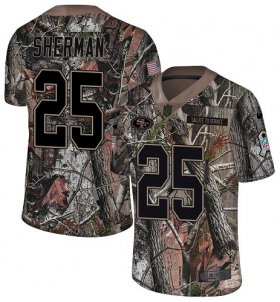 Wholesale Cheap Nike 49ers #25 Richard Sherman Camo Youth Stitched NFL Limited Rush Realtree Jersey