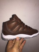 Wholesale Cheap Kid's Jordan 11 Retro Shoes Chocolate Brown Gum