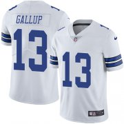 Wholesale Cheap Nike Cowboys #13 Michael Gallup White Men's Stitched NFL Vapor Untouchable Limited Jersey