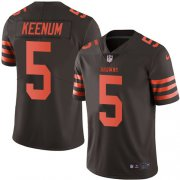 Wholesale Cheap Nike Browns #5 Case Keenum Brown Youth Stitched NFL Limited Rush Jersey