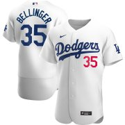 Wholesale Cheap Los Angeles Dodgers #35 Cody Bellinger Men's Nike White Home 2020 Authentic Player MLB Jersey