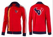 Wholesale Cheap NFL Houston Texans Team Logo Jacket Red_2