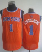 Wholesale Cheap New York Knicks #1 Amare Stoudemire Orange Swingman Jersey