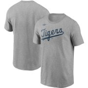 Wholesale Cheap Detroit Tigers Nike Cooperstown Collection Wordmark T-Shirt Heathered Gray