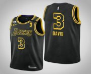 Wholesale Cheap Youth Los Angeles Lakers #3 Anthony Davis 2020 NBA Finals Champions Tribute Kobe and Gianna Black Jersey