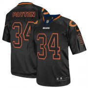 Wholesale Cheap Nike Bears #34 Walter Payton Lights Out Black Men's Stitched NFL Elite Jersey