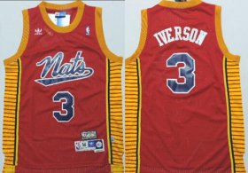 Wholesale Cheap Philadelphia Sixers #3 Allen Iverson Nats Red Swingman Throwback Jersey