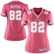 Wholesale Cheap Nike Cowboys #82 Jason Witten Pink Women's Stitched NFL Elite Jersey