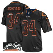 Wholesale Cheap Nike Bears #34 Walter Payton Lights Out Black Men's Stitched NFL Elite Autographed Jersey