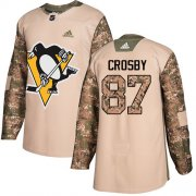 Wholesale Cheap Adidas Penguins #87 Sidney Crosby Camo Authentic 2017 Veterans Day Stitched Youth NHL Jersey