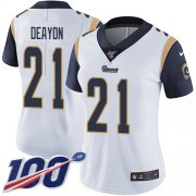 Wholesale Cheap Nike Rams #21 Donte Deayon White Women's Stitched NFL 100th Season Vapor Untouchable Limited Jersey