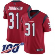 Wholesale Cheap Nike Texans #31 David Johnson Red Alternate Men's Stitched NFL 100th Season Vapor Untouchable Limited Jersey