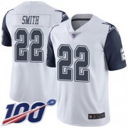 Wholesale Cheap Nike Cowboys #22 Emmitt Smith White Men's Stitched NFL Limited Rush 100th Season Jersey