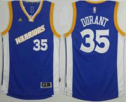 Wholesale Cheap Men's Golden State Warriors #35 Kevin Durant Blue Retro Stitched 2016 NBA Revolution 30 Swingman Jersey