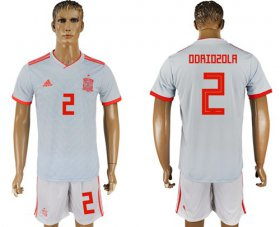 Wholesale Cheap Spain #2 Odriozola Away Soccer Country Jersey