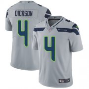 Wholesale Cheap Nike Seahawks #4 Michael Dickson Grey Alternate Men's Stitched NFL Vapor Untouchable Limited Jersey