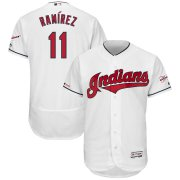 Wholesale Cheap Cleveland Indians #11 Jose Ramirez Majestic Home 2019 All-Star Game Patch Flex Base Player Jersey White