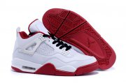 Wholesale Cheap Air Jordan 4 Retro Shoes white/red