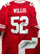 Wholesale Cheap Nike 49ers #52 Patrick Willis Red Team Color Men's Stitched NFL Elite Autographed Jersey