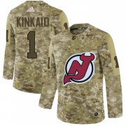 Wholesale Cheap Adidas Devils #1 Keith Kinkaid Camo Authentic Stitched NHL Jersey