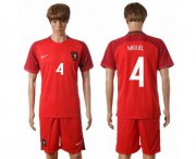 Wholesale Cheap Portugal #4 Miguel Home Soccer Country Jersey