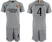 Wholesale Cheap Roma #4 Cristante Away Soccer Club Jersey