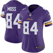 Wholesale Cheap Nike Vikings #84 Randy Moss Purple Team Color Women's Stitched NFL Vapor Untouchable Limited Jersey